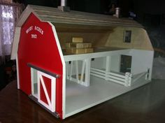Childrens toy wooden barn. We would like to build a toy barn for our schleich animals like this #baby product #children toy| http://babytoy.lemoncoin.org