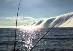 Fisherman captures spooky footage of fog bank on Lake Michigan