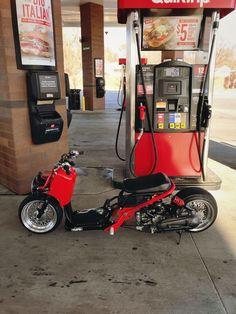 Grom Motorcycle, Moto Bike, Custom Moped, Custom Bikes, Kids Wagon, Kayaking Tips, Honda Ruckus, Moped Scooter, Drift Trike