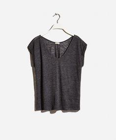 T-shirt linho - OYSHO