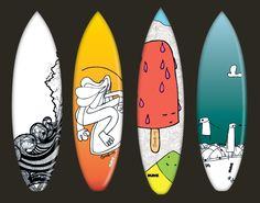 4 x Surfboard Designs for INLAYZ- available to buy via their online Candy Store - http://store.inlayz.net/#!/droog79/crystal-caverns