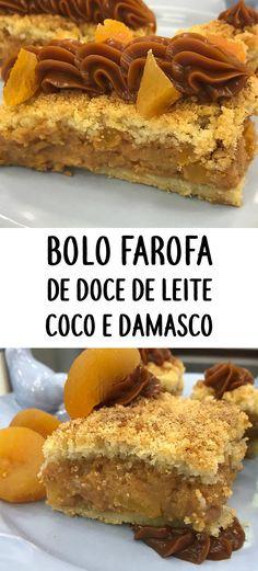 Bolo farofa de doce de leite, coco e damasco Receita vencedora do quarto lugar do concurso Top 20 receitas da Ana Maria Braga de novembro | BOLO DELICIOSO E LINDO PARA FESTAS DE ANIVERSÁRIO