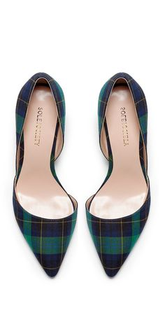 Plaid D'orsay Heels .