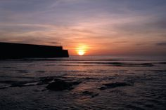 Sunrise and St Andrews Pier taken from the East Sands. 20-4-13.