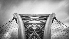 Sky Jump. Rome, Italy. #bridge #pontesettimiaspizzichino #ArchitecturalDetail #Symmetry #SkyJump #Rome #Roma #Wires #fineartphotography #marcoromaniphotography #MarcoRomani #Lazio #Steel #Europe #LongExposure #fineart #Italy #Italia #ContemporaryArchitecture #BW #Architecture #BlackandWhite #Bridge #Nikon #Feisol #Nikkor #NikonD800