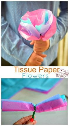 How to Make Easy DIY Tissue Paper Flowers for Kids - Paper Flower Backdrop Weddi. How to Make Easy DIY Tissue Paper Flowers for Kids - Paper Flower Backdrop Wedding . Tissue Paper Flowers Giant, Paper Flowers For Kids, Tissue Paper Crafts, Paper Flower Backdrop, Paper Crafts For Kids, Diy Paper, Diy For Kids, Older Kids Crafts, Daycare Crafts