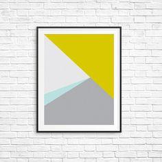 Modern Wall Art, Geometric Print, Instant Download Printable Art, Grey and Yellow Wall Art, Modern Prints, Geometric Art, Scandinavian Print