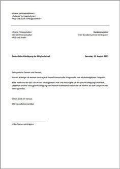 Kündigung Wohnung (Mietvertrag) Vorlage Vorlagen