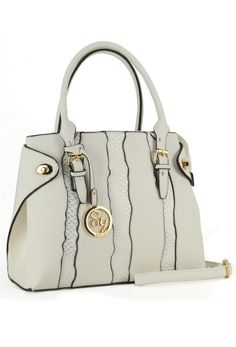 White Snakeskin Patchwork Folding Wing Grab / Shoulder Bag by Sally Young from Bridget's Boutique