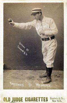 1880s Old Judge Cigarettes Baseball Advertisement