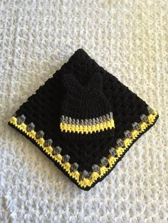 A personal favorite from my Etsy shop https://www.etsy.com/listing/251481569/handmade-crocheted-baby-batman-blanket