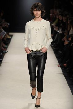 love black & white... slurp on the leather pants