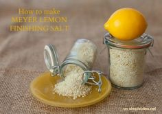 Multiple recipes for preserving lemons, but I like the idea of making my own perfect lemon pepper recipe based off this salt.