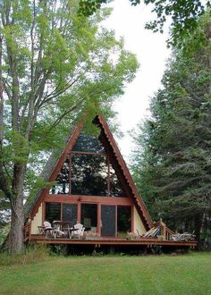 small a frame family cabin   Top 6 A Frame Tiny Houses