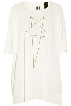 DRKSHDW by Rick Owens  Printed cotton-jersey trapeze T-shirt
