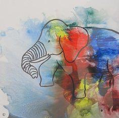 """Els Driesen, """"olifant 4"""" Mit einem Klick auf 'Als Kunstkarte versenden' versenden Sie kostenlos dieses Werk Ihren Freunden und Bekannten."""