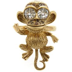 KENNETH JAY LANE Gold Monkey Ring ($72) ❤ liked on Polyvore