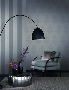 Rasch Textil Amira 23-225753 Streifen Vliestapete grau Flur Tapete
