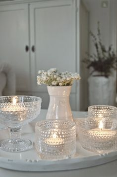 I think everybody will agree that in almost every living room, the central place is a sofa and a coffee table. Tealight Candle Holders, Candle Lanterns, Tea Light Candles, Tea Lights, White Candles, Hygge, Glass Photography, Marimekko, Decoration Table