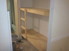 """Built in Bunk Bed and """"Elf Bunk Beds""""   Jays Custom Creations"""