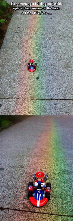 Rainbow road in real life.