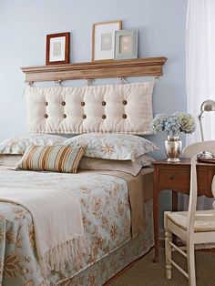 Looking for DIY Headboard Ideas? There are numerous inexpensive means to create a special distinctive headboard. We share a few fantastic DIY headboard ideas, to influence you to style your bed room posh or rustic, whichever you favor. Cool Headboards, Headboard Projects, Decor, Home Bedroom, Headboard Designs, Furniture, Bedroom Decor, Home Decor, Headboards For Beds