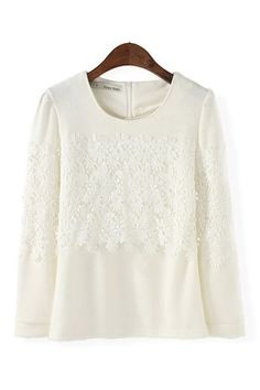 lace blocked blouse