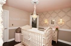 Pink and Grey Palace Nursery: The perfect nursery for a little princess.