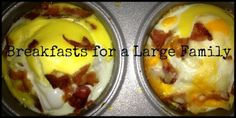 breakfasts for a large family (or large gathering)