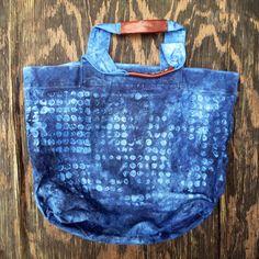Indigo Bucket Tote — Rigg - Handmade Bags, Textiles & More