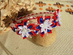 Moje rękodzieło / Kanzashi / opaska do włosów dla dziewczynki // My crafts / Kanzashi / hair band for girls
