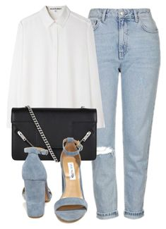 """Untitled #6464"" by laurenmboot ❤ liked on Polyvore featuring Topshop, Acne Studios, Yves Saint Laurent and Steve Madden"