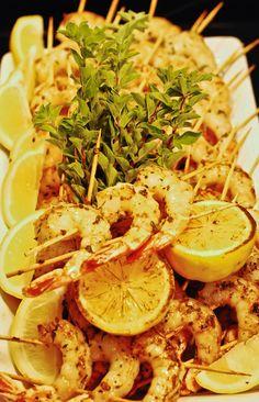 Greek inspired Shrimp Brochette
