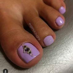 Purple Toe NailArt