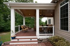 Traditional Home Covered And Enclosed Patios Design Ideas, Pictures, Remodel, and Decor - page 322