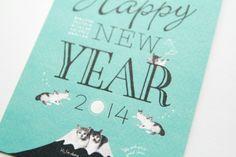 NewYearCard_2014 by masaomi fujita, via Behance