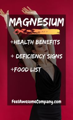Magnesium is an essential mineral for good health and wellness. In this article you'll learn about the health benefits of magnesium, as well as some magnesium rich foods and magnesium deficiency symptoms. #magnesium #magnesiumbenefits #health #magnesiumdeficiency #magnesiumfoods