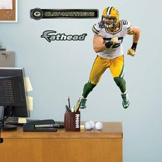 Fathead Green Bay Packers Clay Matthews Away Decal   Wall Sticker Outlet |  Football Season 2015 | Pinterest | Clay Matthews, Packers And Football  Season Part 30