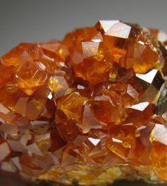 Fine orange GARNET crystals on matrix | eBay