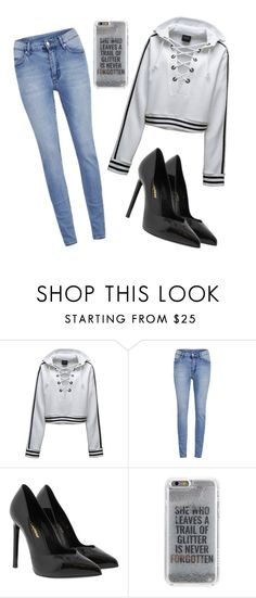 """Glitters"" by sarah-mimi on Polyvore featuring mode, Puma, Cheap Monday, Yves Saint Laurent et Agent 18"