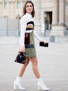 Ícone futurista, bota branca é tendência para inverno 2017
