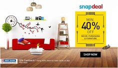Special!! Offers Min. 40% Off On Decor, Furnishing & Furniture Try http://goosedeals.com/home/details/snapdeal/95288.html Now