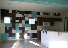Painted Square Designs On Walls