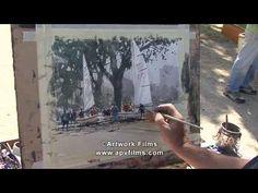 Watercolour Impressions: Joseph Zbukvic. Мне нравятся его быстрые и точные движения кистью, насыщенные тона, чёрный.