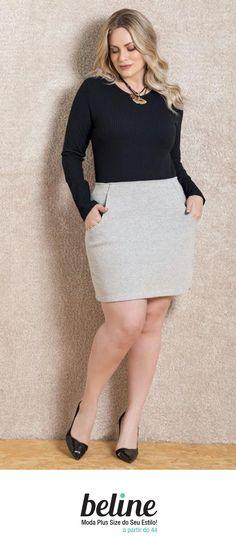 Para quem quer valorizar as pernas, a mini saia é a peça ideal. A mini saia não saiu do guarda-roupa feminino desde a década de 60. É um modelo de saia sensual e confortável, muito utilizada em ambientes despojados. Confira as mini saias em: https://www.beline.com.br/roupas-femininas-plus-size/saias-plus-size/saias-plus-size/saia-curta-plus-size  #beline #plussize #minisaiaplussize #saiaplussize #modaplussize #estiloplussize #eusouplus #meuestiloplussize