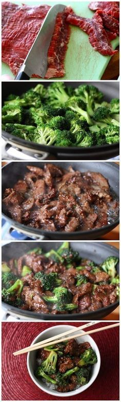 Beef and Broccoli Stir Fry--This is the one I did. I used sesame oil and rice vinegar instead of sherry. Yum!: