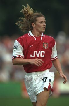 8 Jul 1997: Emmanuel Petit of Arsenal in action during the pre-season friendly