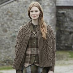 Derwent from Lakeland by Marie Wallin. A stunning cable jacket handknitted using Rowan British Sheep Breeds Chunky.