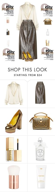 """""""All About Perspective"""" by liyahmystyle ❤ liked on Polyvore featuring Loewe, Oscar de la Renta, Charlotte Olympia, Fendi, Stila, Lancôme and Illamasqua"""