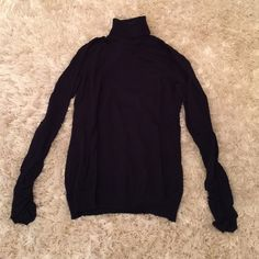 Navy turtleneck, excellent condition The Limited navy turtleneck, very soft and comfy.... Has shirred sleeves The Limited Tops